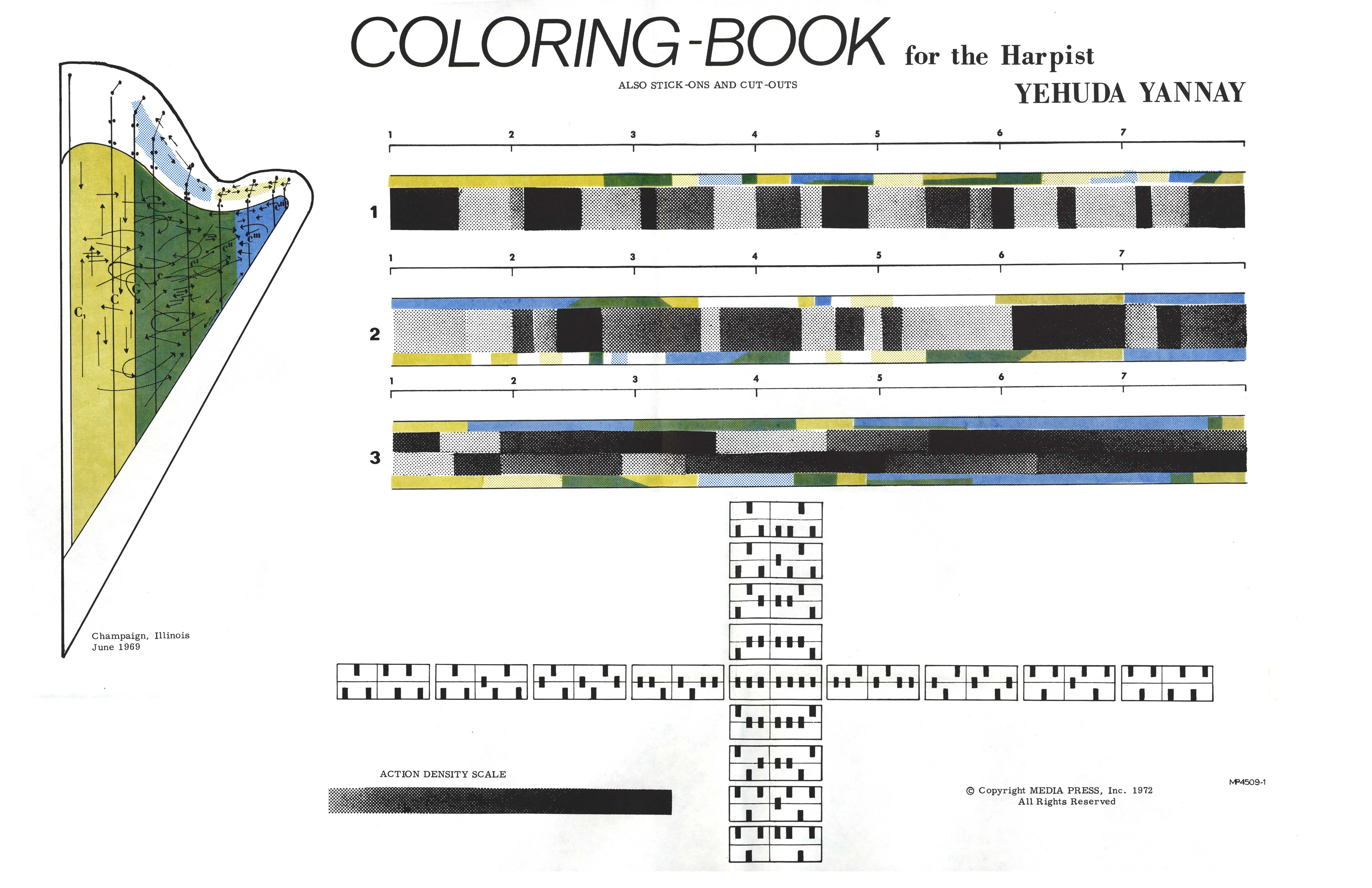 Coloring Book for the Harpist